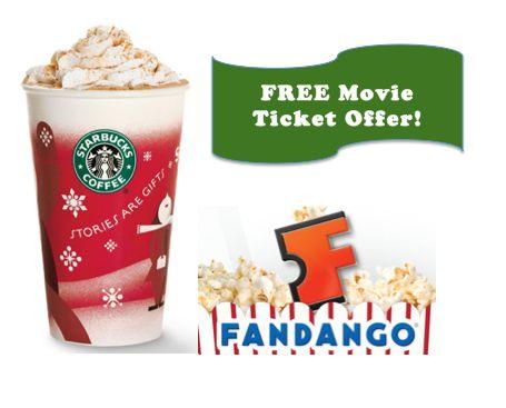 (**Update: Limit Reached**) Starbucks Fandango Movie Ticket Offer!