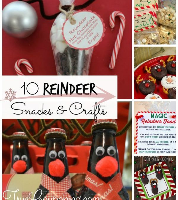 10 Reindeer Crafts and Recipes