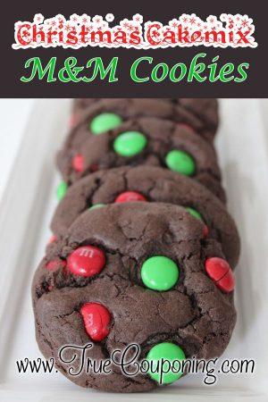Christmas Cakemix-M&M-Cookies