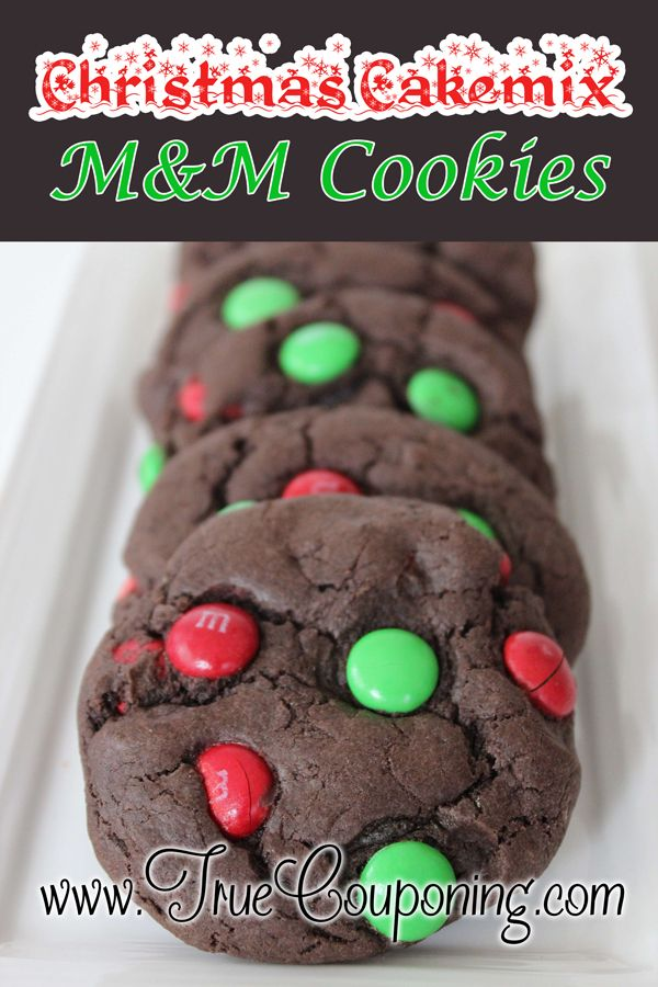 The Best M&M Christmas Cake Mix Cookies For Easy Treats