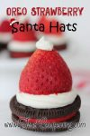 Oreo Strawberry Santa Hats ~ 12 Days of Christmas Cookies (Day 3)