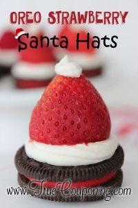 Oreo Strawberry Santa Hats ~ 12 Days of Christmas Cookies (Day 3)