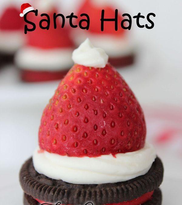 The Cutest Oreo Strawberry Santa Hats You'll Want To Make