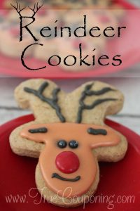 Reindeer Cookies from Gingerbread Cookie Cutter ~ 12 Days of Christmas Cookies (Day 8)