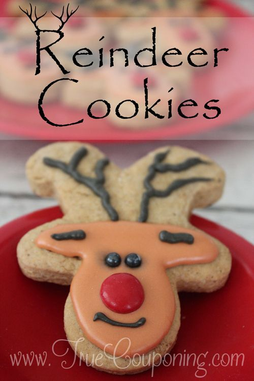 How To Make Reindeer Cookies Made From A Gingerbread Cookie Cutter