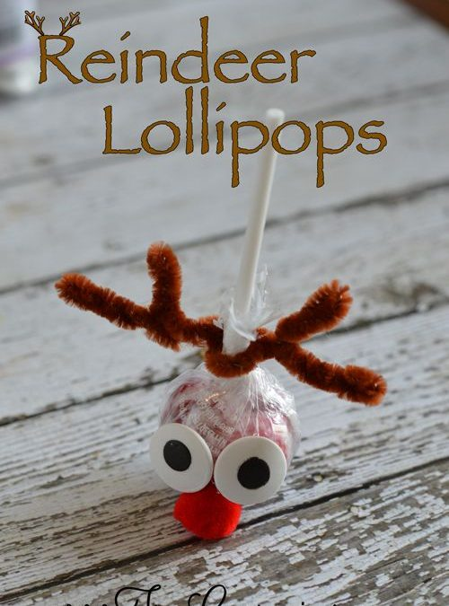 No Bake Reindeer Lollipops