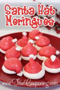 Santa Hat Meringues ~ 12 Days of Christmas Cookies (Day 6)