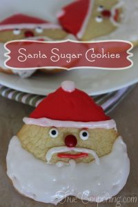 Santa Sugar Cookies ~ 12 Days of Christmas Cookies (Day 12)