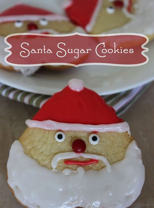 Santa Sugar Cookies ~ 12 Days of Christmas Cookies (Day 12)