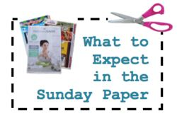 NO Coupon Inserts for this Sunday, 7/19/15! {Contact #s Included}