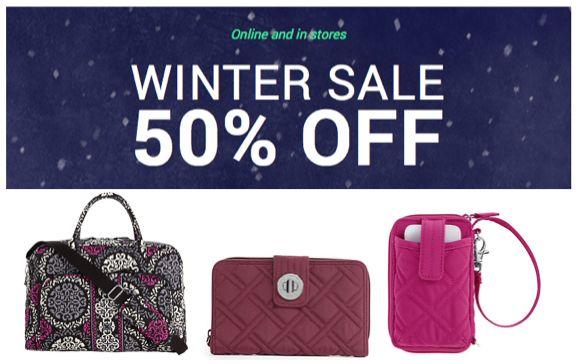 Vera Bradley Sale ~ 50% off Magenta, Raisin and Canterberry Magenta!  Ends 1/15