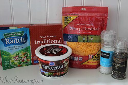 Cheddar-Bacon-Ranch-Dip-Ingredients