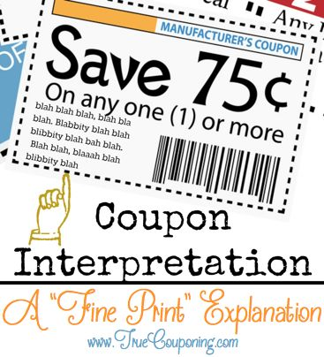 Coupon Fine Print Explanation