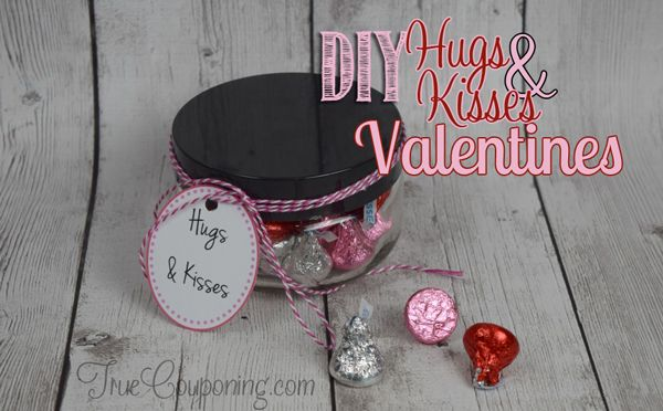 DIY Hugs and Kisses Valentines