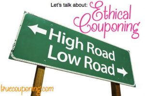 Ethical Extreme Couponing
