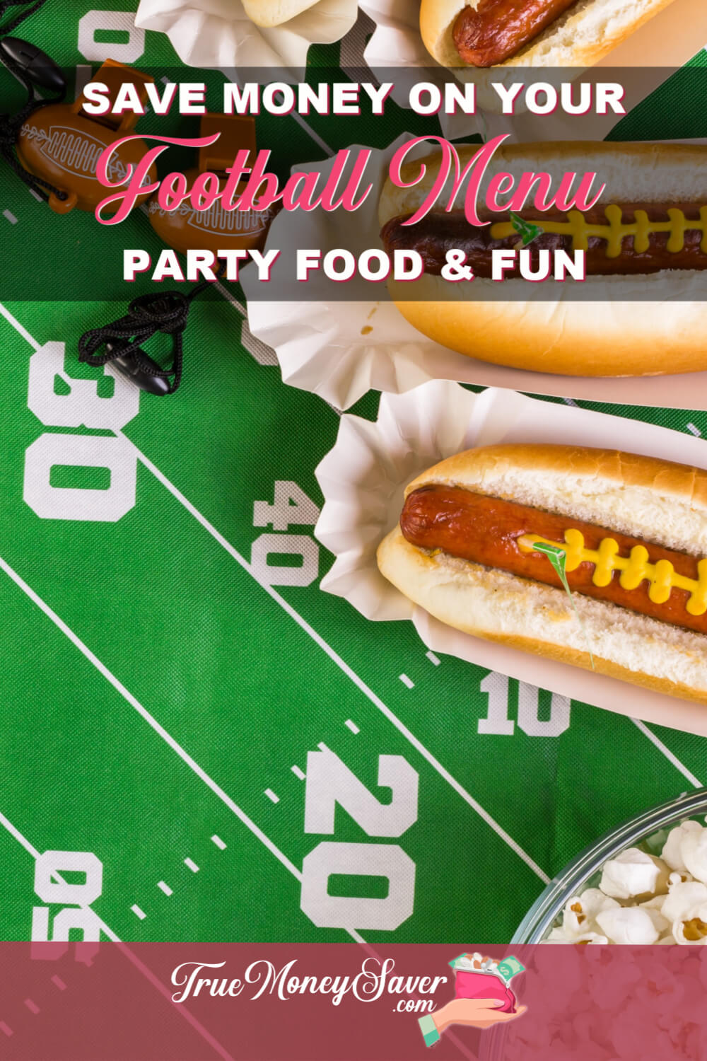 Are you having a football party? Then you need to check out these football party menu ideas that will help you save money and time! These game day menu ideas will make sure your guests will want to come back for more game day fun! Star your party here! 