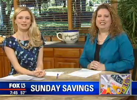{Video Replay} Fox 13 Savings Segment ~ FIVE Fabulous FREEbies for December!