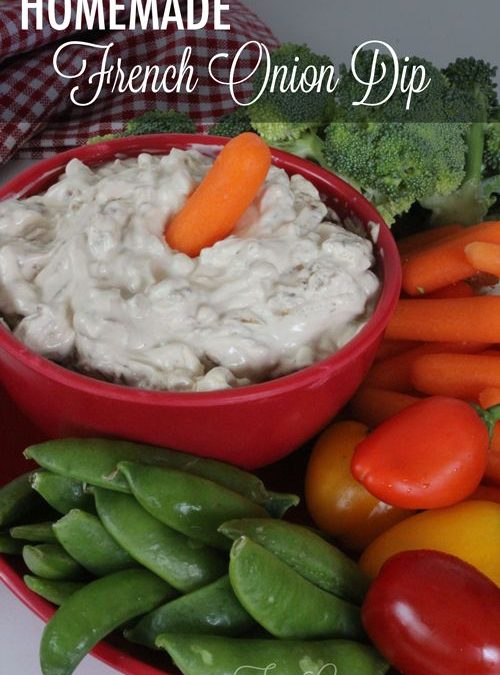 The BEST Homemade French Onion Dip EVER