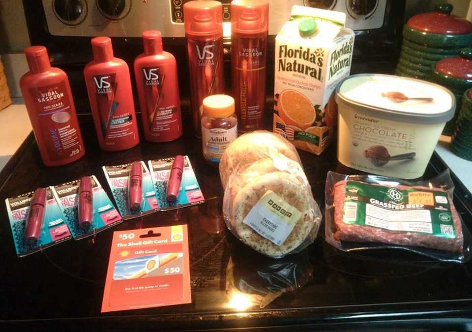 Testimonial: She spent only $62 on all this…Including a $50 Gas Card!