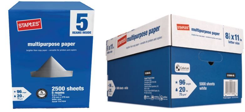 Paper Deals at Staples: $5 5-Ream Case PLUS 10-Ream Case for $10! ~ Ends Saturday!