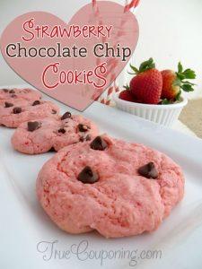 Strawberry Chocolate Chip Cookies Recipe