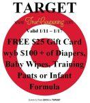 Target $25$100 Gift Card