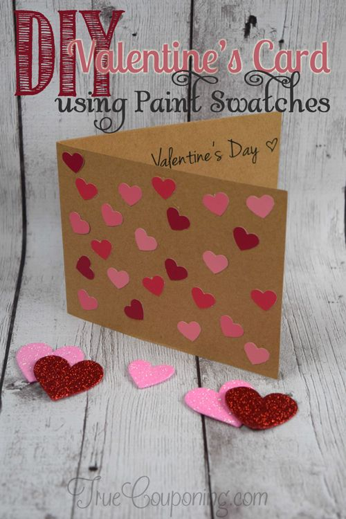 diy valentines cards diy s day card made with paint swatches 12577