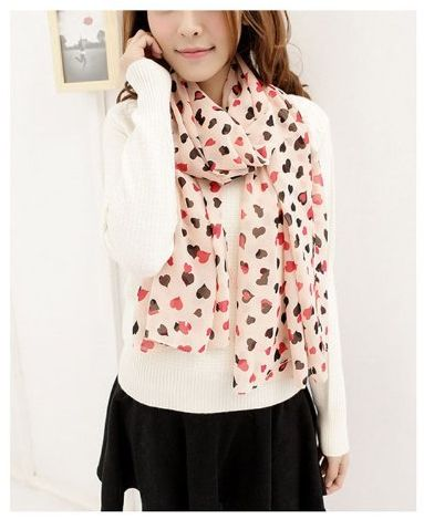 Valentine Love Heart Scarf just $2.46 Shipped!