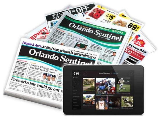 Orlando Sentinel Subscription Thursday & Sunday Only ~ $15 for 1 Year! ENDS TONIGHT 6/25