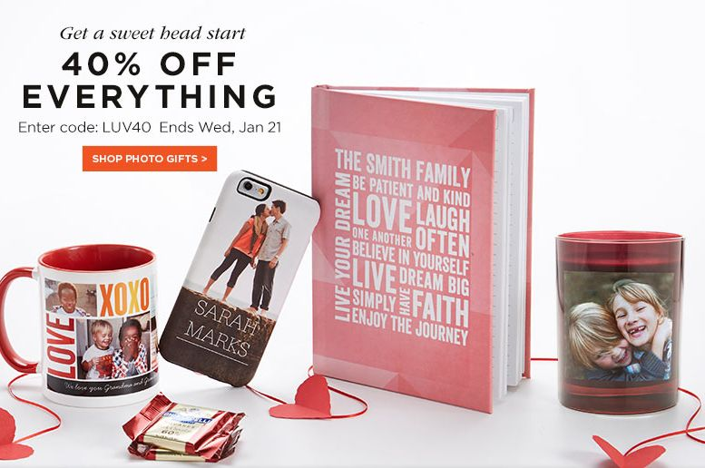 Shutterfly Sale ~ Save 40% Off Everything!