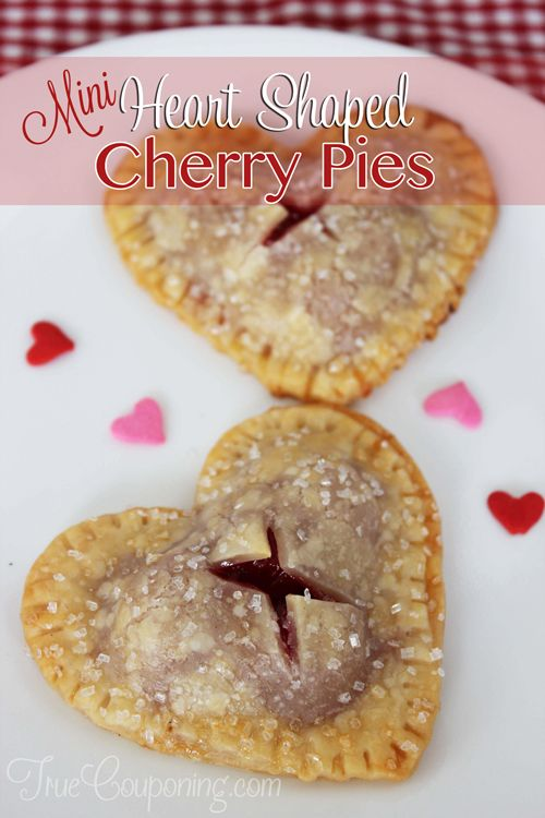 Heart-shaped-Mini-Cherry-Pies