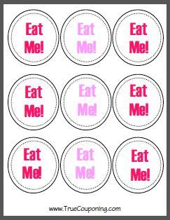Printable Eat Me Tags