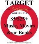 Target 5-25 Music Books Movies 2-8-15