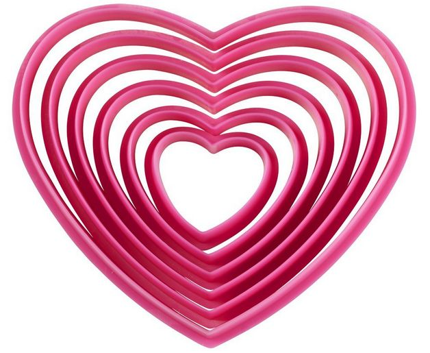 Wilton Heart Cookie Cutter Set $4.64, Ships FREE
