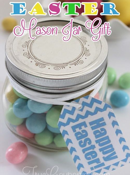 EASY Mason Jar Gift Idea for Easter