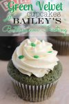 Green-Velvet-Cupcakes-with-Bailey's-Buttercream-Frosting