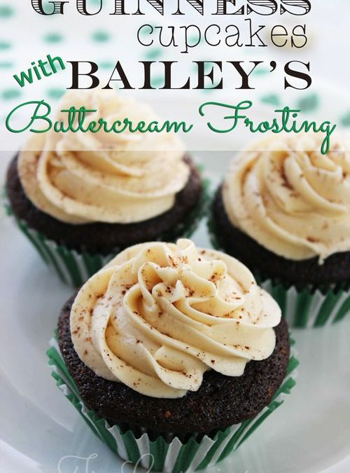 Guinness Cupcakes with Bailey's Buttercream Frosting Recipe