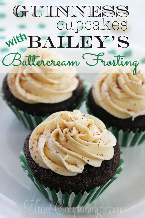 Guiness-Cupcakes-with-Bailey's-Buttercream-Frosting