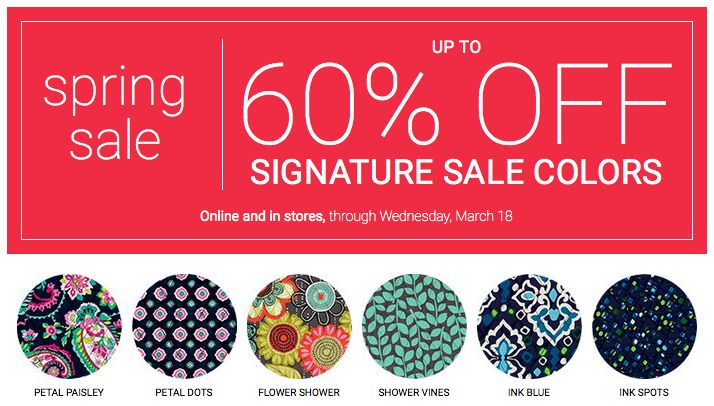 Vera Bradley Sale ~ Save Up to 60% on Select Colors!  Ends 3/18