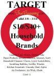 Target 10-40 Household Brands 3-8