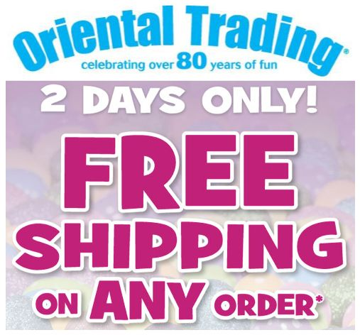 Oriental Trading FREE Shipping for Easter ~ No Minimum! Ends 3/24