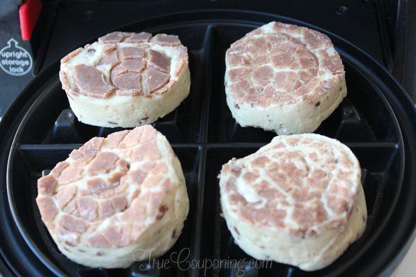 Cinnamon-Roll-Waffles-Cooking
