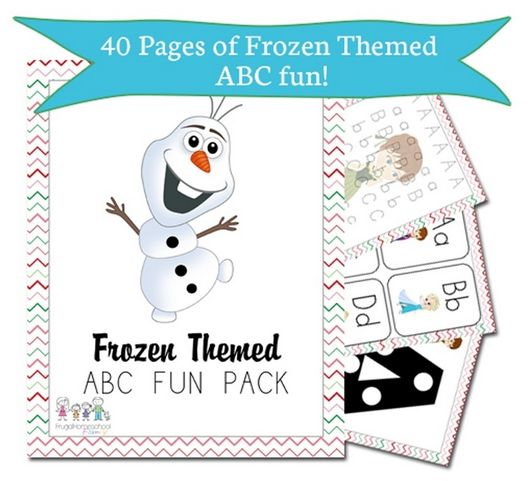 FREE Disney Frozen Download for ABCs and Math!