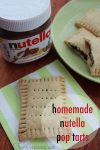 Homemade Pop Tarts Recipe with Nutella…Perfect for Christmas Morning!