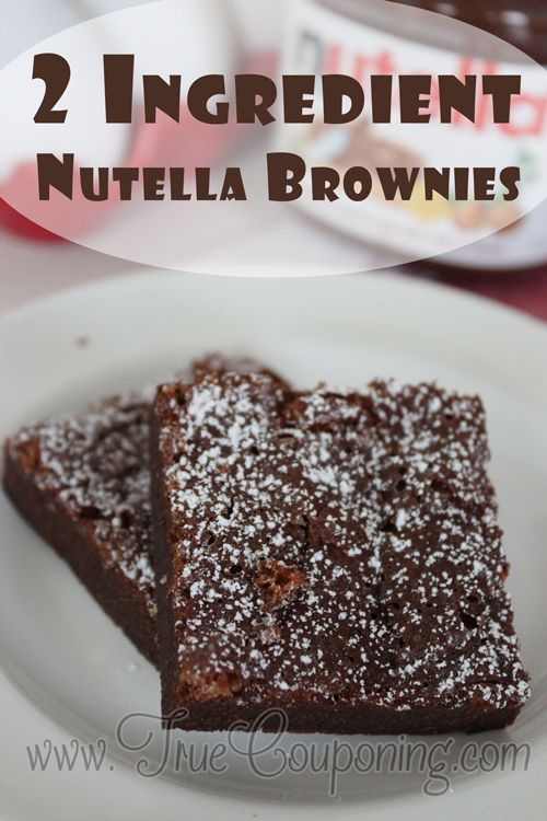 2-Ingredient-Nutella-Brownies
