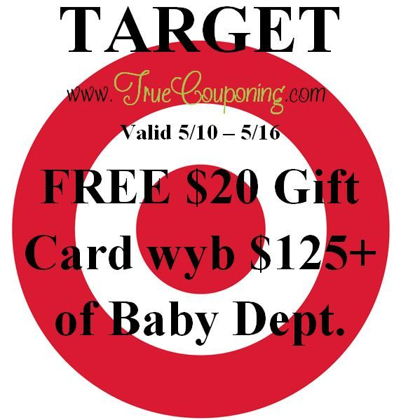Target 20 Dollar Gift Card Wedding Registry : The Target FREE USD20 Gift Card wyb USD125 + of Baby Dept. coupon will be ...