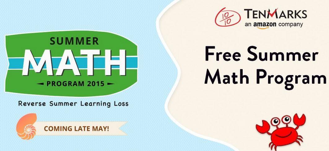 FREE Summer Math Program from TenMarks! {Reg Price $39.95}