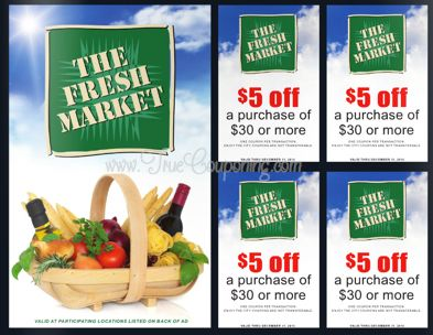 Fresh Market $5 Off $30