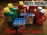 Double Coupon Shopping Trip at Kmart! (2) Tide, (4) Xtra & (2) Ziploc for under $6 Total! {After $10 Reward)