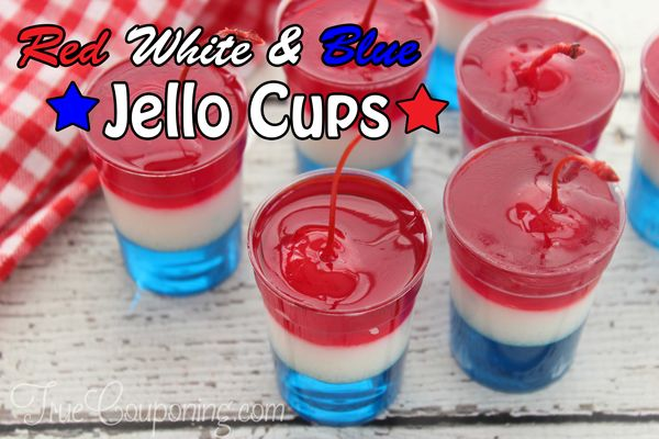 The Best Red White and Blue Jell-O Cups Recipe